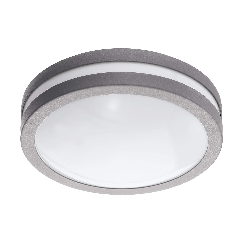 EGLO LOCANA-C - Plafoniera in acciaio zincato, 14 W, colore  argentoo