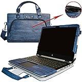 HP Notebook 14 Funda,2 in 1 Diseñado Especialmente La Funda Protectora de Cuero de