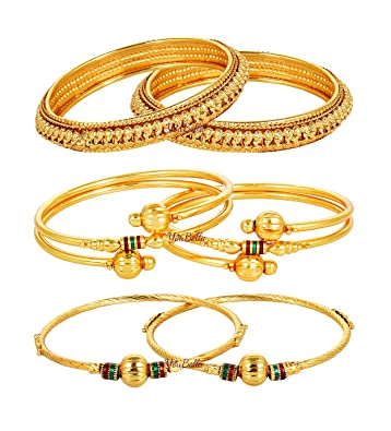 ae2cff4643c1d Youbella Combo Of 3 Gold Plated Bangles For Girls/Women