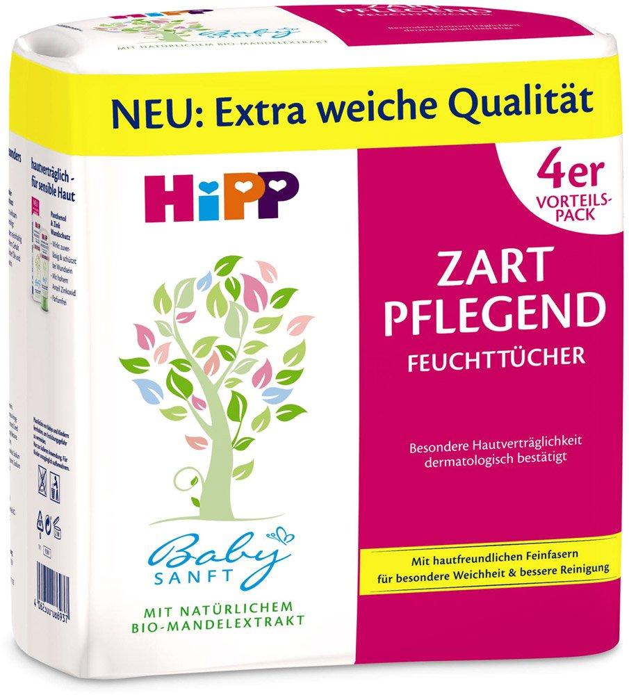 Hipp Babysanft toallitas delicado acondicionado, 4x56, 3-Pack (3 x 224 toallitas): Amazon.es: Salud y cuidado personal