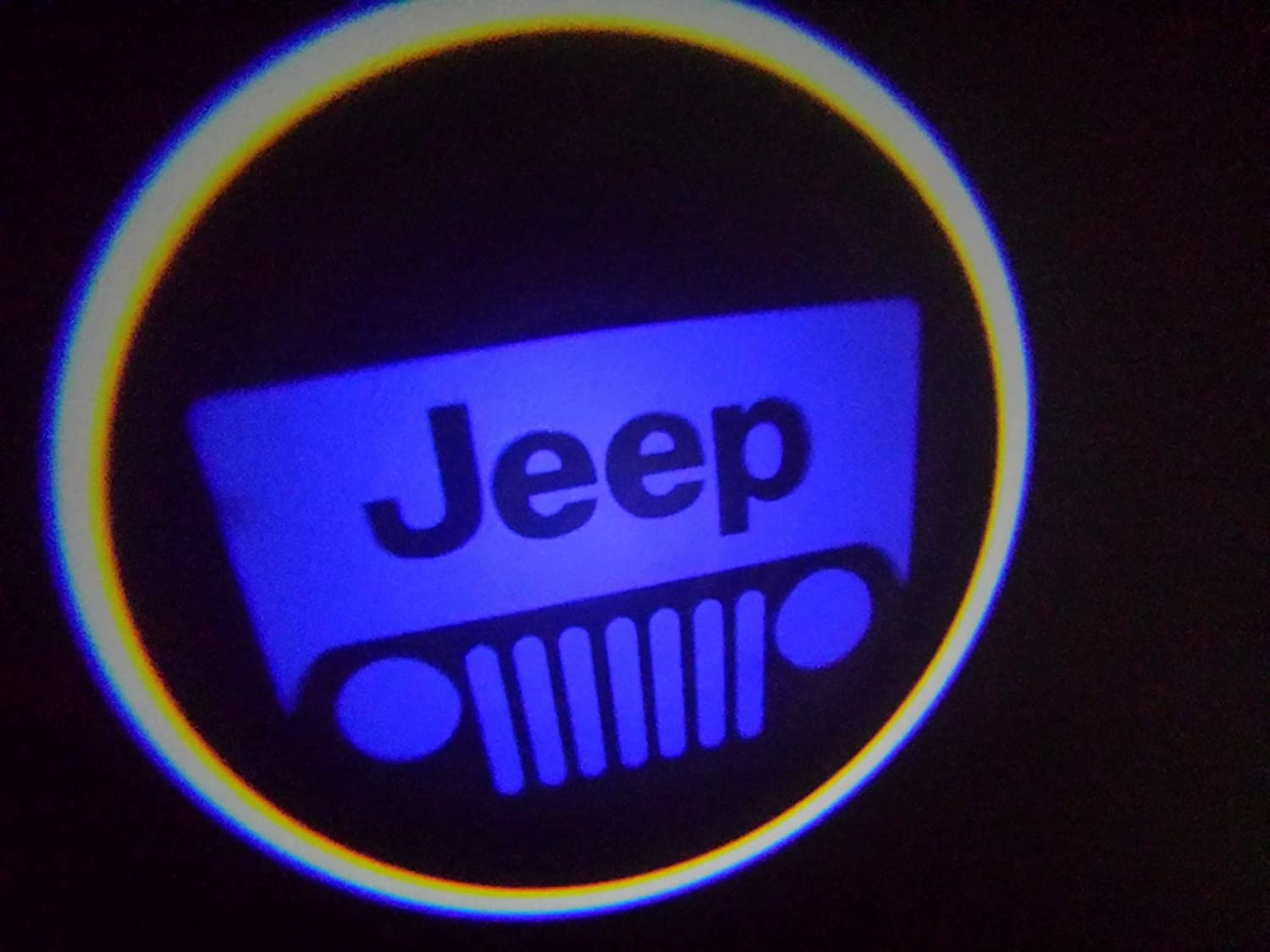 WIRELESS Jeep BLUE Ghost Door Logo Projector Shadow Puddle Laser Led Lights (Qty 2) FROM USA gz