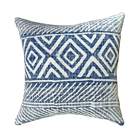 Amazon.com: YoTreasure Home Decor - Almohada de algodón azul ...