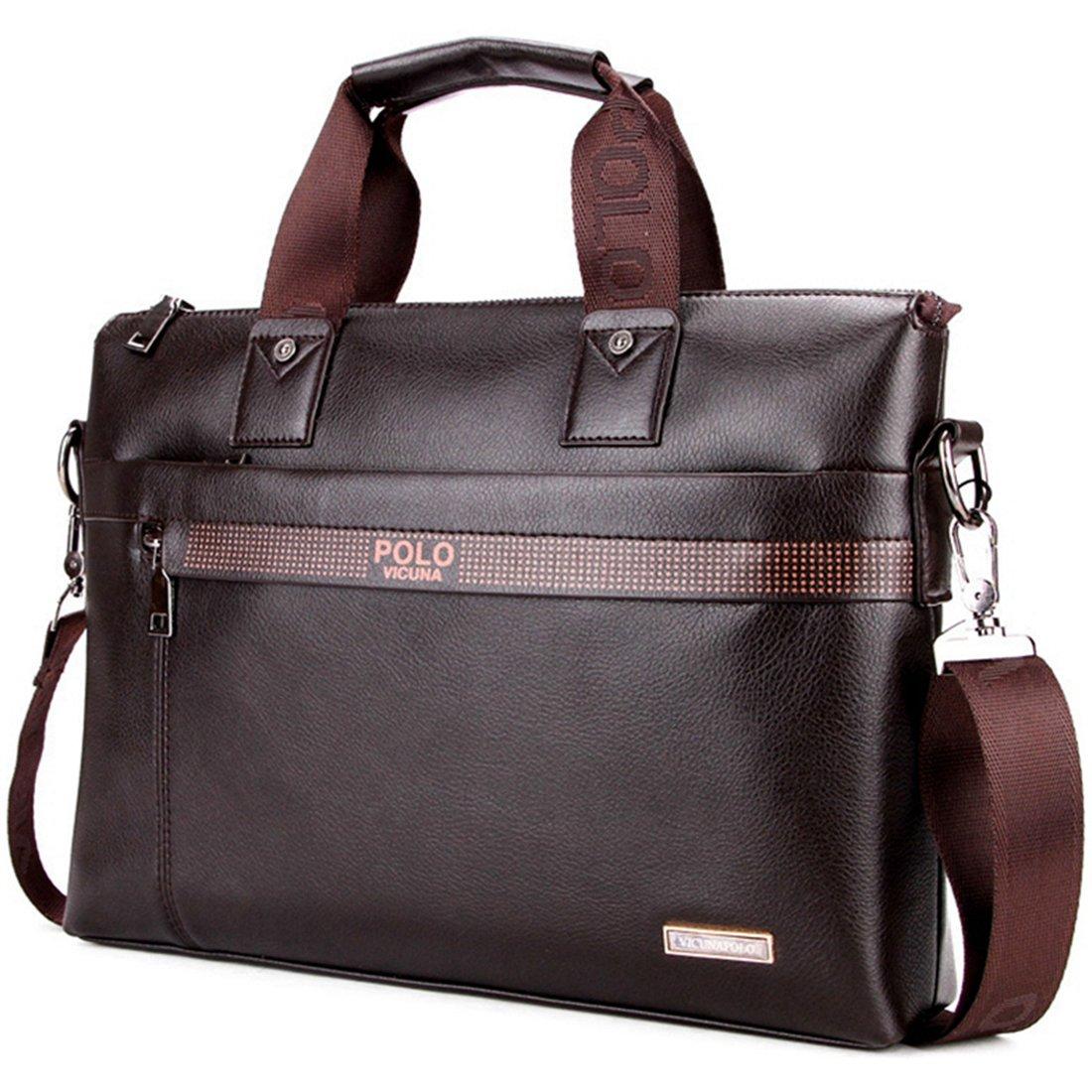 VICUNA POLO Man Briefcase Bag Messenger Bag Laptop Bag Man Bag Shoulder Bag(brown) by VICUNA POLO