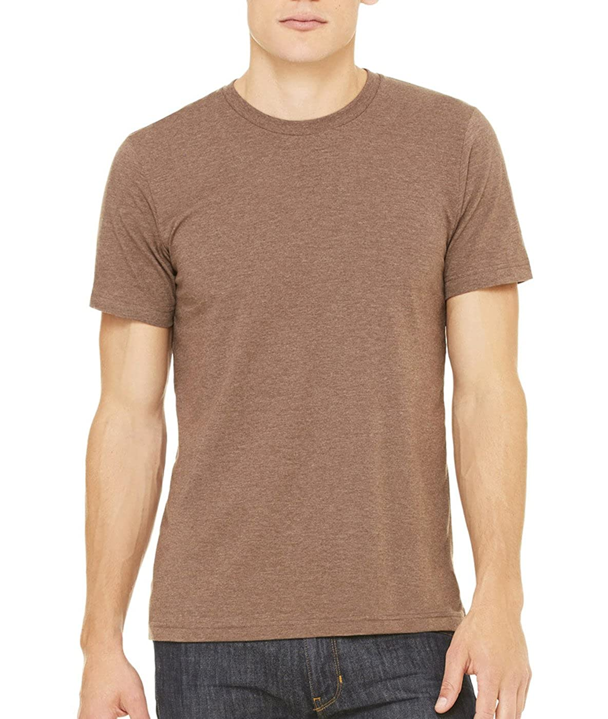 3XL Canvas Jersey Short-Sleeve T-Shirt Bella Heather Brown 3001C