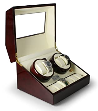 Klarstein Old Marshall • Estuche con bobinadora para relojes • Caja para relojes • 10 Relojes