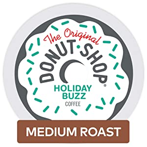 The Original Donut Shop Holiday Buzz Single Serve Keurig K-Cup Pods, Medium Roast Coffee, 12 Count