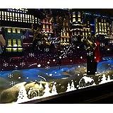 Natale Vetrofanie Rimovibile Adesivi Murali Fai da te Finestra Decorazione Vetrina Wallpaper Adesivi (B)