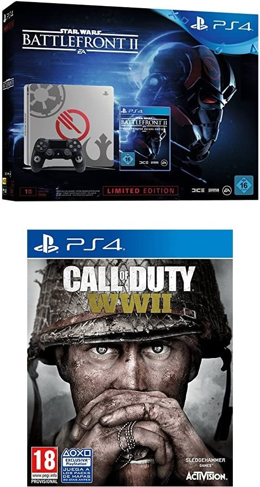 PlayStation 4 (PS4) - Consola 1 TB + Star Wars Battlefront - Edición Especial + COD WWII: Amazon.es: Videojuegos