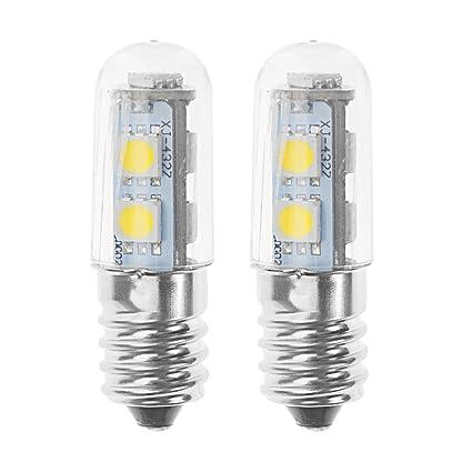 220v Hood White Mini E14 3000k Bulb For 2700k Led 2x 1w Warm Range Refrigerator Light Lamps vnyN8wmO0