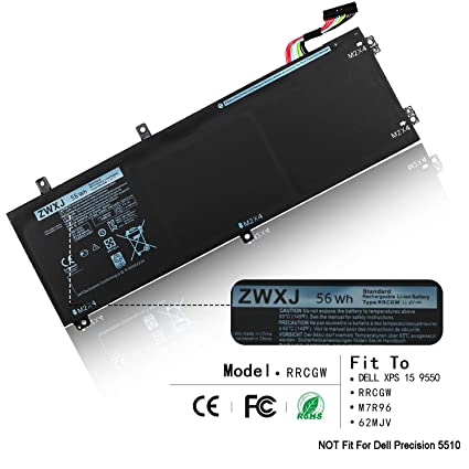 ZWXJ Laptop Battery RRCGW(11 4V 56Wh) for DELL XPS 15 9550 M7R96 62MJV Type  RRCGW