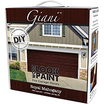 Giani Wood Look Garage Door Paint Kit, 2 Car, Royal Mahogany ... on garage door stain diy, garage floor coating options, garage with entry door, garage door faux wood paint on metal, garage door trim, log homes garage doors wood, garage door painted like wood, garage door spray-paint,