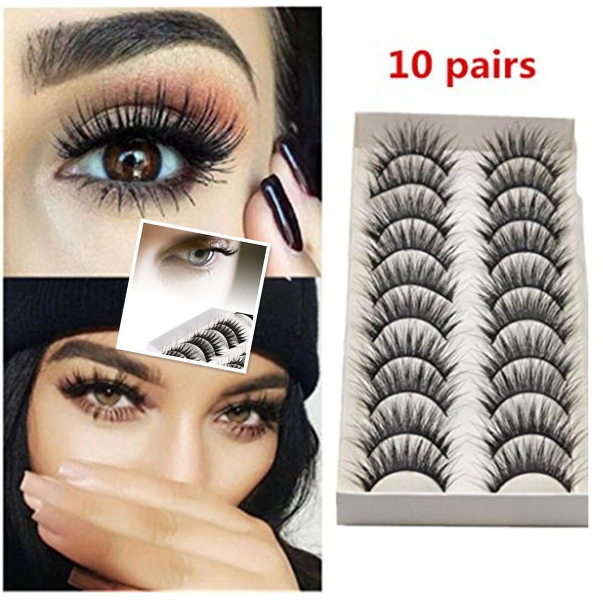 76ee1c250f 3D Mink Fake Eyelashes soft and natural (ish) looking! Make You Look More  Charming ❤ How to use ❤ Carefully remove the eyelashes from the case with  ...