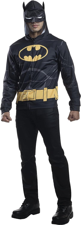 Adulto disfraz de Batman sudadera con capucha: Amazon.es: Juguetes ...