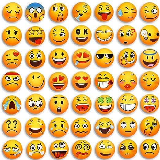 MORCART 54 PCS Emoji Imanes Nevera Sonriente Linda Adecuado para ...
