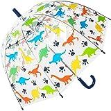 Kids dinosaur clear dome umbrella