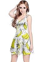 CowCow Womens Summer Hawaii Beach Surf Tropical Fruits Toucan Sleeveless Dress, XS-5XL