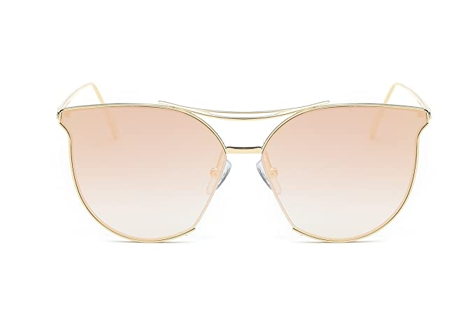 e83f799f2a Eyepster Contemporary Gradient Mirrored Lens Cat Eye Sunglasses - Kendall  (Pink)