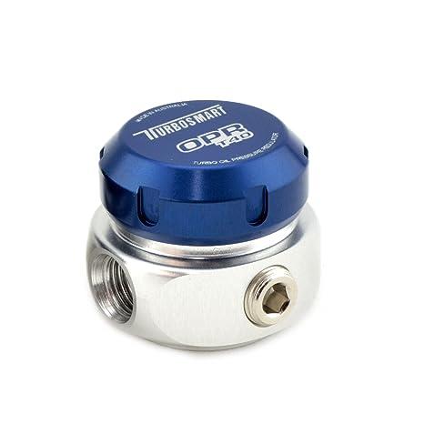 Turbosmart T40 Turbo regulador de presión de aceite 40 PSI (azul)