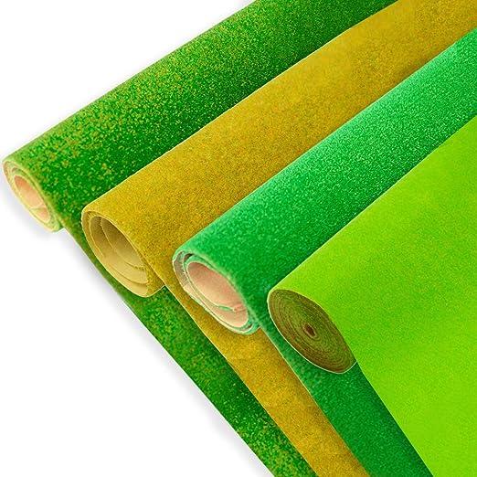 Amazon.com: WOLFBUSH Model Grass Mat 4Pcs Artificial Turf ...