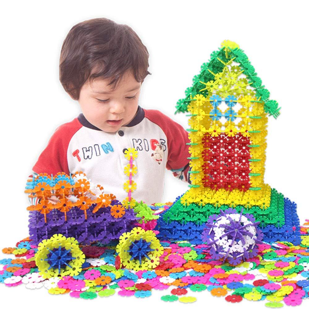 1.7\ 800PCS EP-Toy Kreative Schneeflocke Stücke Zu Bausteine, Kinder Baby Spaß Früherziehung DIY Spielzeug (12 Farben)