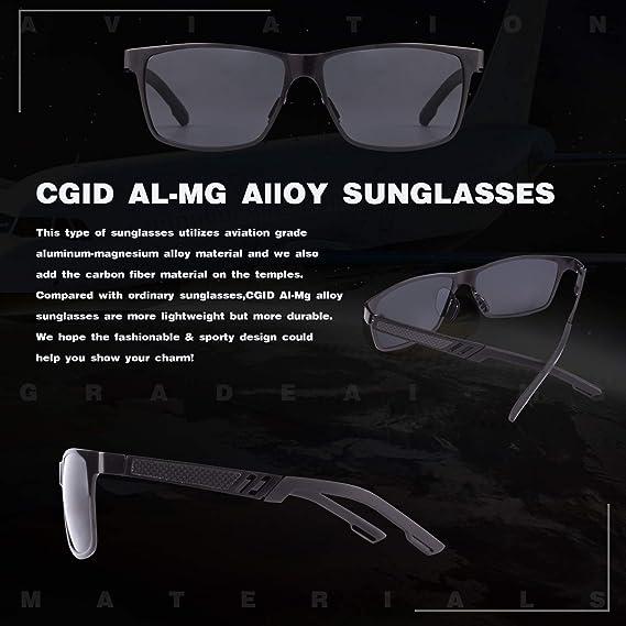 778df7b058 CGID GD60 Classic Al-Mg Alloy Frame Polarized Sunglasses UV400