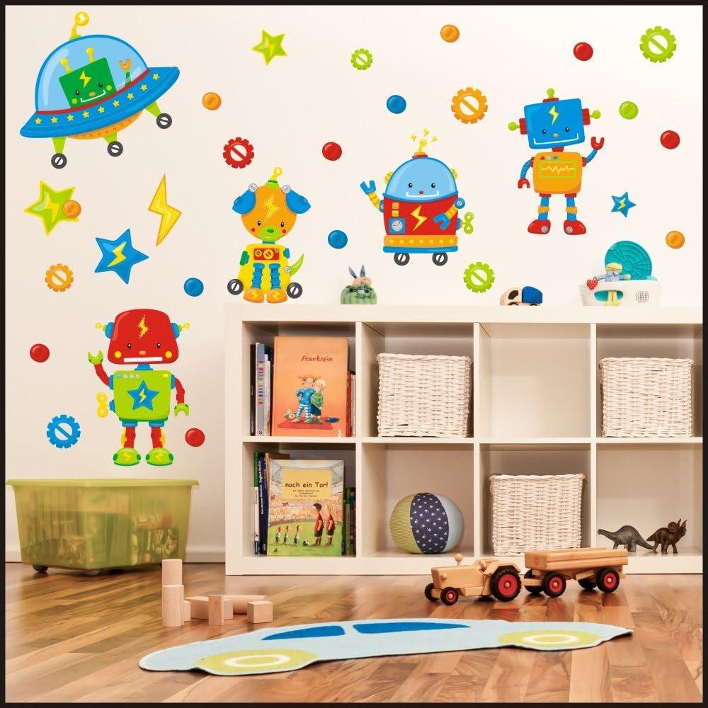 Diseño de robot de juego de adhesivos decorativos para figura decorativa y calcomanías para juego de adhesivos decorativos para ideal para la habitación de diseño de niños infantil con forma de pared