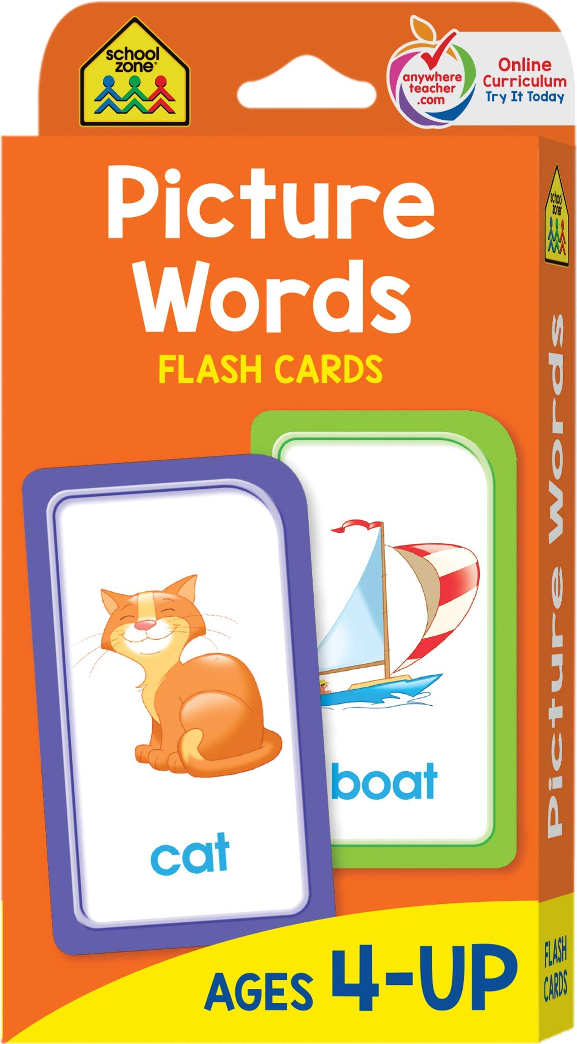 School Zone - Picture Words Flash Cards - Ages 4 and Up ...