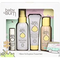 Baby Bum Born to Explore Travel Set | Travel Sized Essentials 4-Piece On-The-Go Gift Set for Sensitive Skin with…