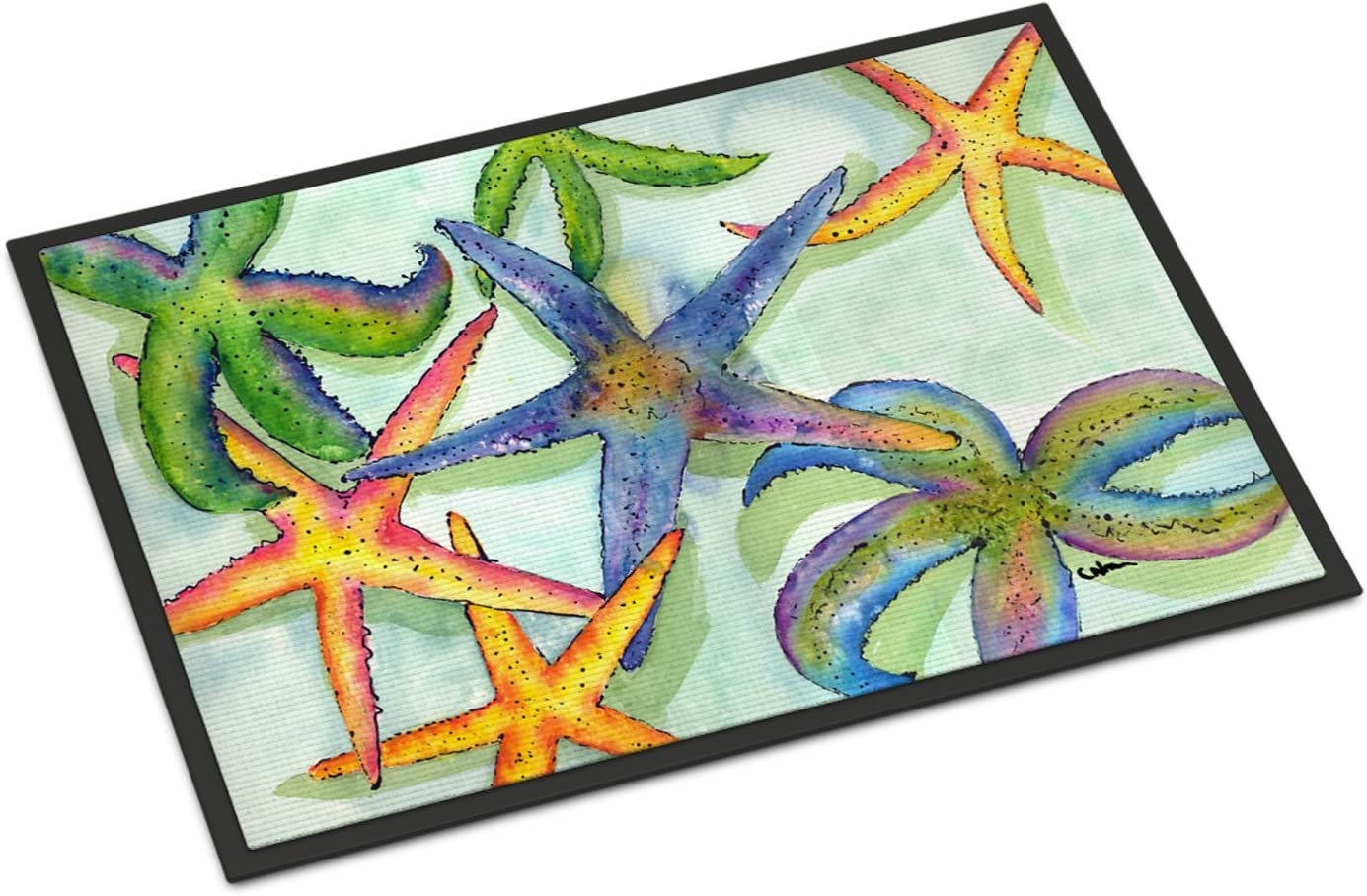 Caroline s Treasures 8542-JMAT Starfish Indoor or Outdoor Mat 24×36 8542 Doormat, 24H X 36W, Multicolor
