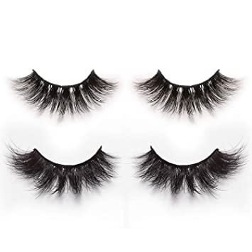 e7130e46ff3 Alluring 3D & 4D Mink Fur False Eyelashes Pack of 2 Pairs,100% Natural