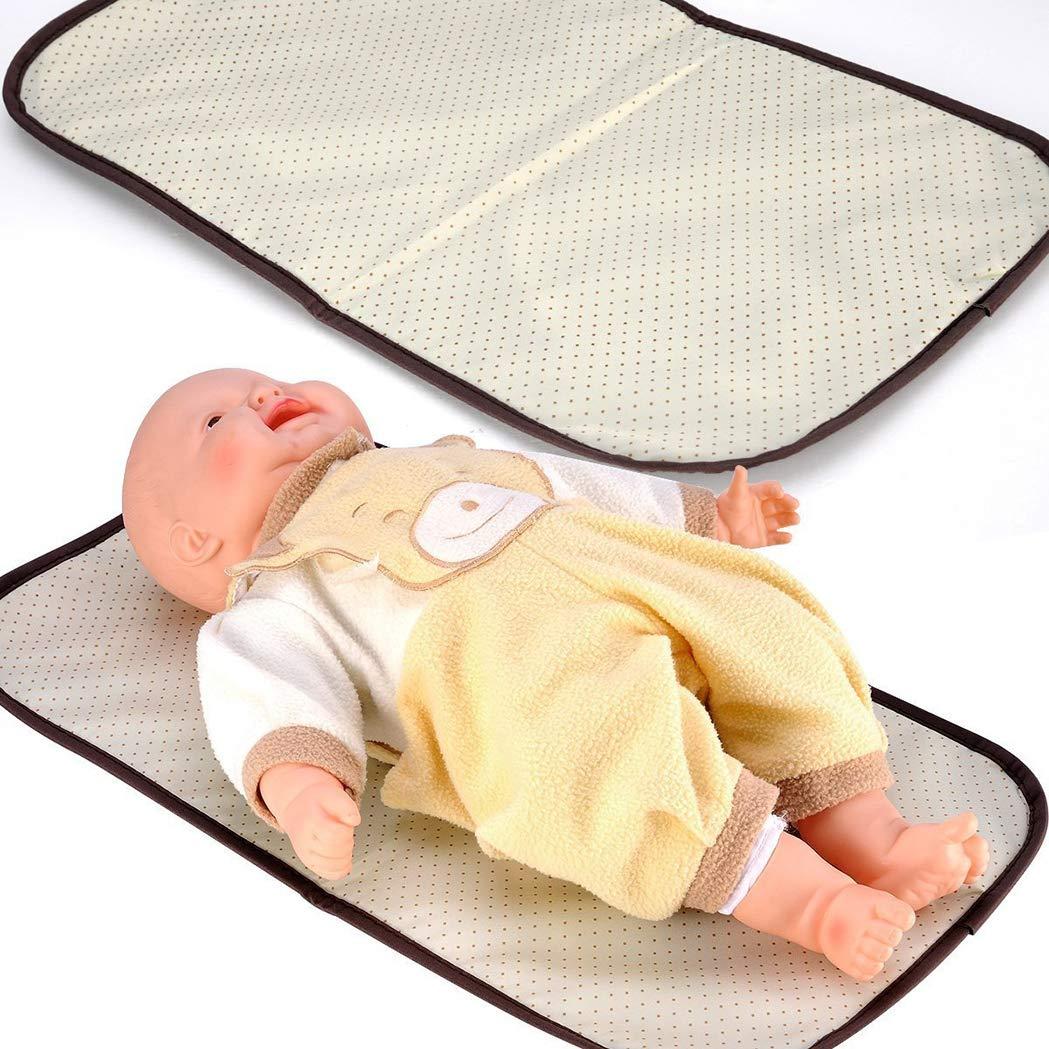 Set 5 kits Bolsa de Mama Para Bebe Biberon Bolso//Bolsa//Bolsillo Maternal Beb/é para carro carrito biber/ón colchoneta comida pa/ñal de color marr/ón