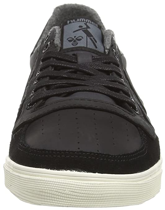 Hummel Slimmer Stadil Oiled - Zapatillas de Otra Piel para Hombre, Color Negro, Talla 25.50