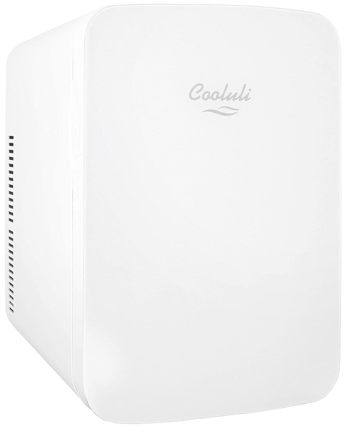 Cooluli Infinity 15-liter Compact Cooler/Warmer Mini Fridge for Cars, Road Trips, Homes, Offices, and Dorms (White)