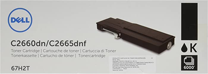 Dell 67H2T Black Toner Cartridge C2660dn/C2665dnf Color Laser Printer