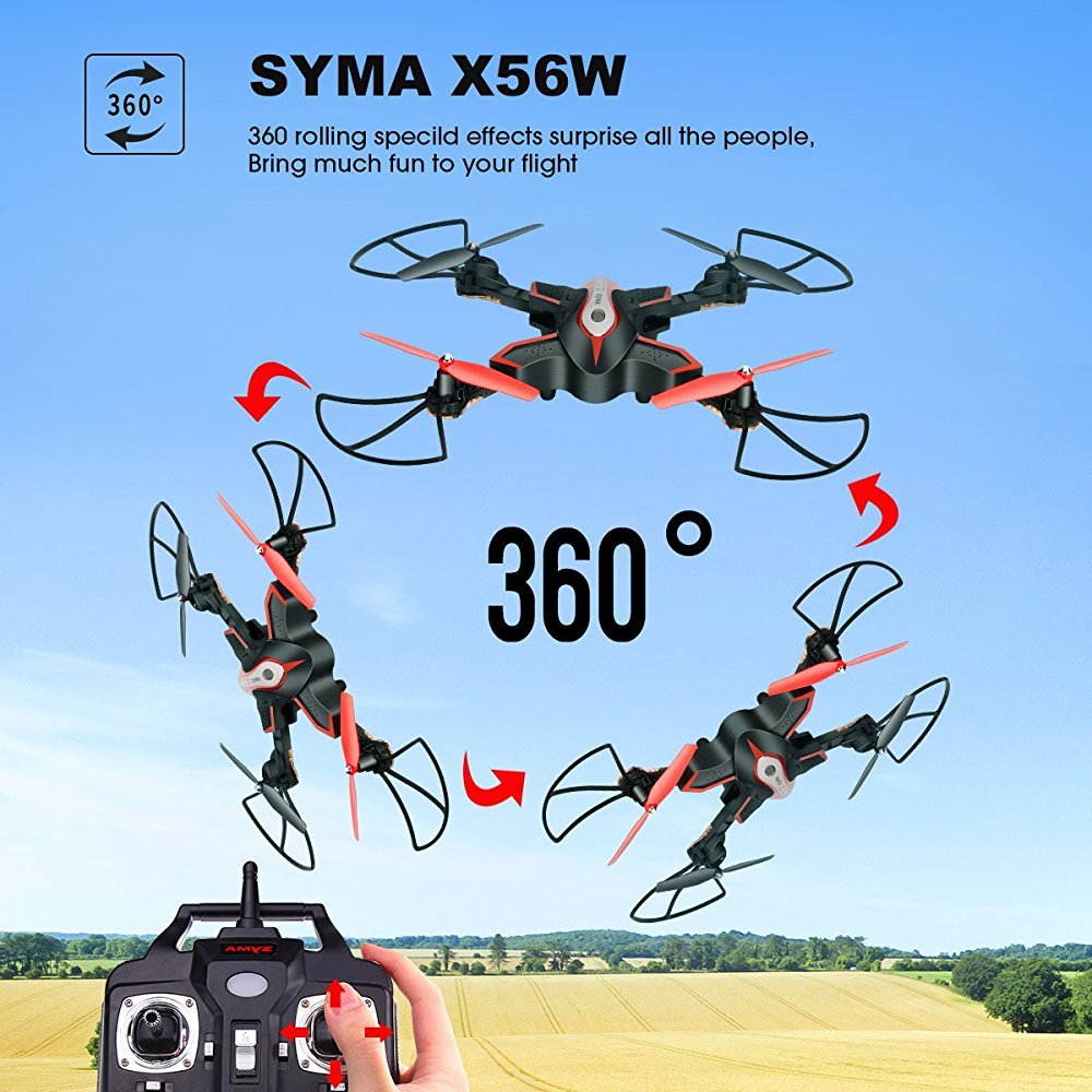 X56W Plegable RC Drone con FPV HD WiFi Cámara Video En Vivo ...