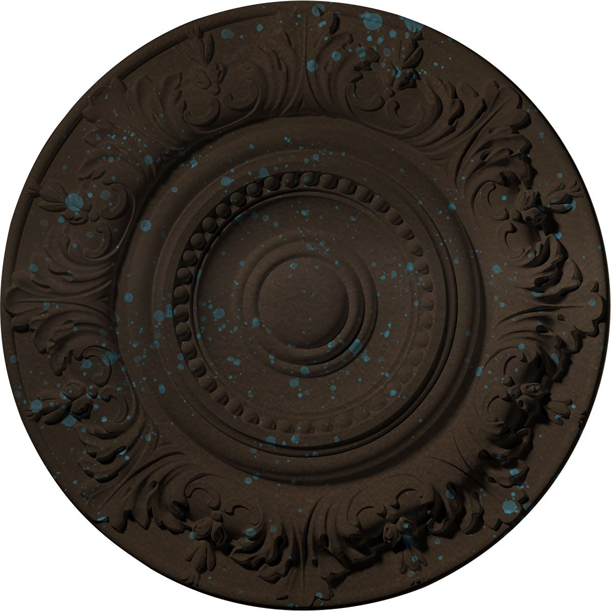 Ekena Millwork CM20BXBBS Biddix Ceiling Medallion, Bronze Blue Patina