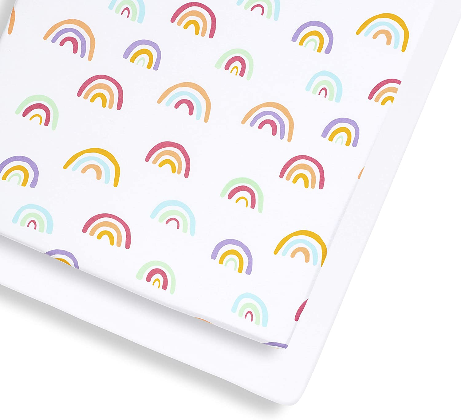 Snuz Cot and Cot Bed Fitted Sheet Multi-Colour 390 g Rainbow