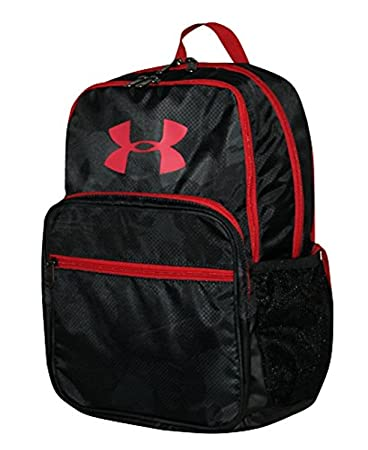 2c2a437c593a Under Armour Hof Youth Boys Athletic Multi Purpose School Backpack  (Black Red)  Amazon.in  Bags