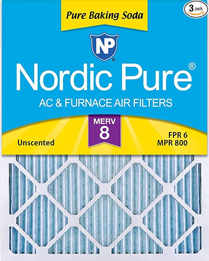 Nordic Pure 14x18x1 Exact MERV 13 Pleated AC Furnace Air Filters 1 Pack