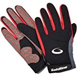 Goldline Curling Precision Gloves-Mens-Black with Charcoal-Medium