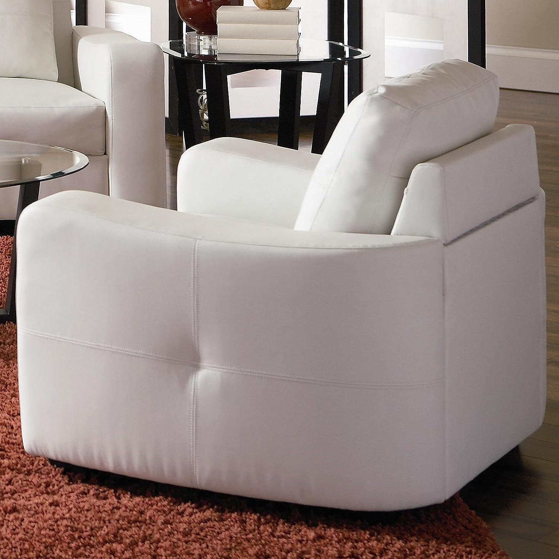 Amazon Coaster Jasmine Leather Chair White Kitchen & Dining