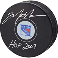"""$189 » Mark Messier New York Rangers Autographed Hockey Puck with""""HOF 2007"""" Inscription - Fanatics Authentic Certified"""