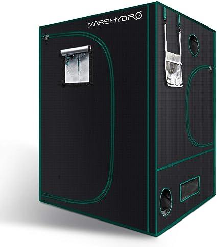 "Mars Hydro 48/""x48/""x78/"" Indoor Grow Tent 1680D Reflective Greenhouse Box Room"