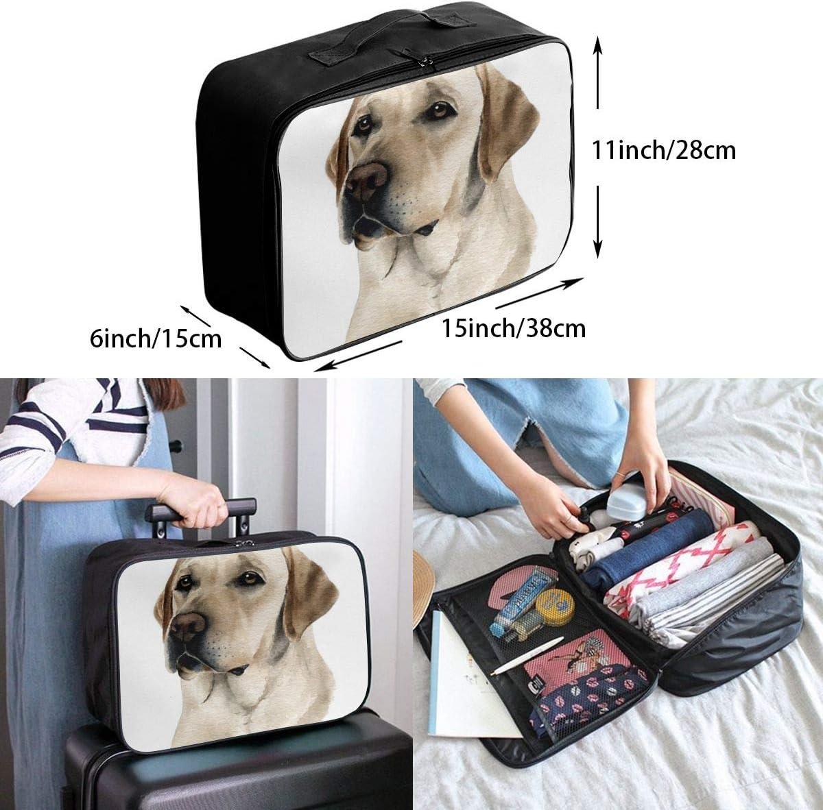 Travel Bags Labbador Retriever Dog Portable Duffel Custom Personalized Trolley Handle Luggage Bag