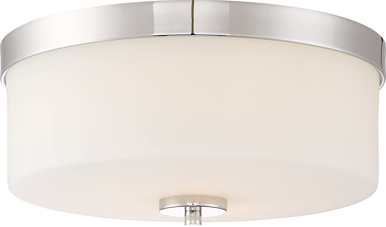 Polished Nickel Nuvo 60//6231 Two Light Flush Mount 2