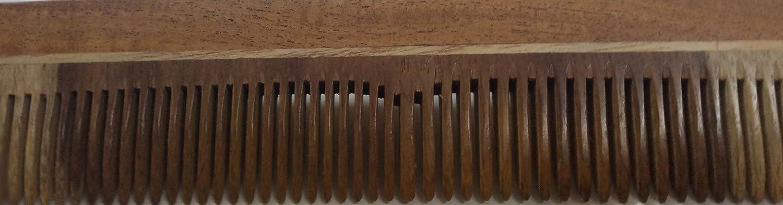 Keya Le Peigne /à la Main en Bois darts Indiens 7,5 x 2 Pouces dent Double Forme Droite