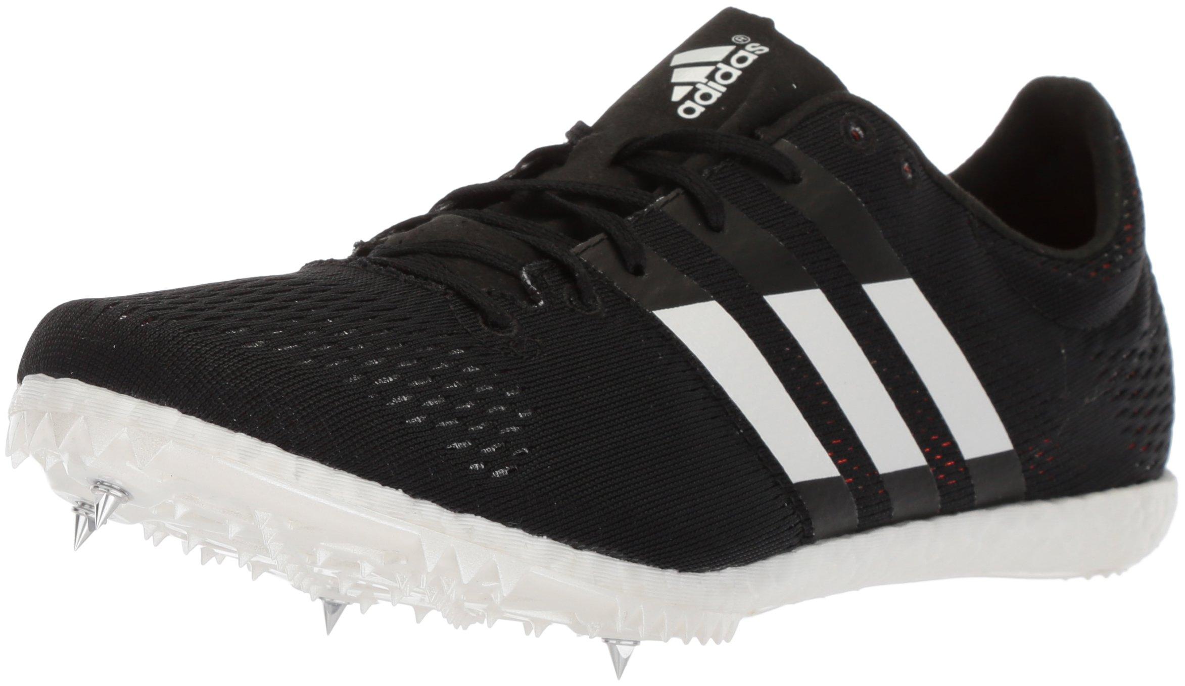 adidas Adizero Avanti Running Shoe, Core Black,White, Orange, 12 M US