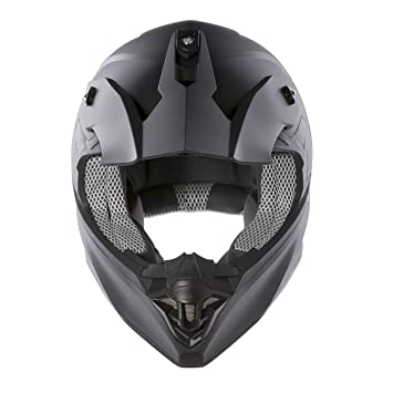 Panthera Moto Cross FS607 - Casco de moto, Negro Mate, M