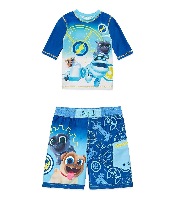 hot Puppy Dog Pals Disney Boys Rash Guard and Swim Short Set hot sale