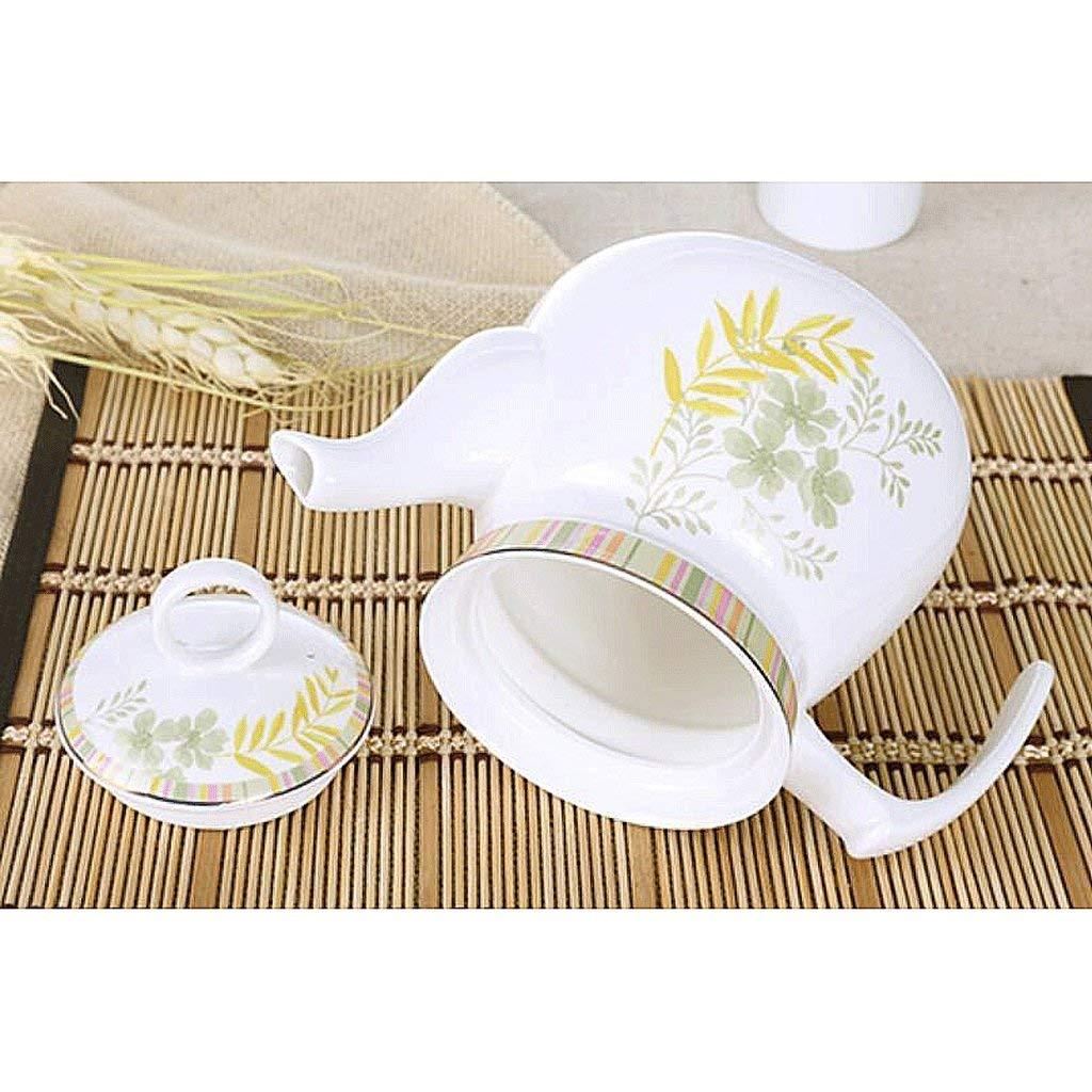 Exquisite Tea Cups Saucers Set Set Coffee Cup Ceramics Teapot Heat-Resistant High Capacity Single Pot Cold Water Household Large Cold Water Bottle Hot Water Bottle Tea Pot 1125ML UOMUN by Kinue (Image #3)
